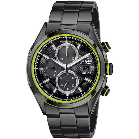 Drive from Citizen Mens Chronograph Black Stainless Steel Bracelet Watch-Ca0435-51e, One Size , No Color Family