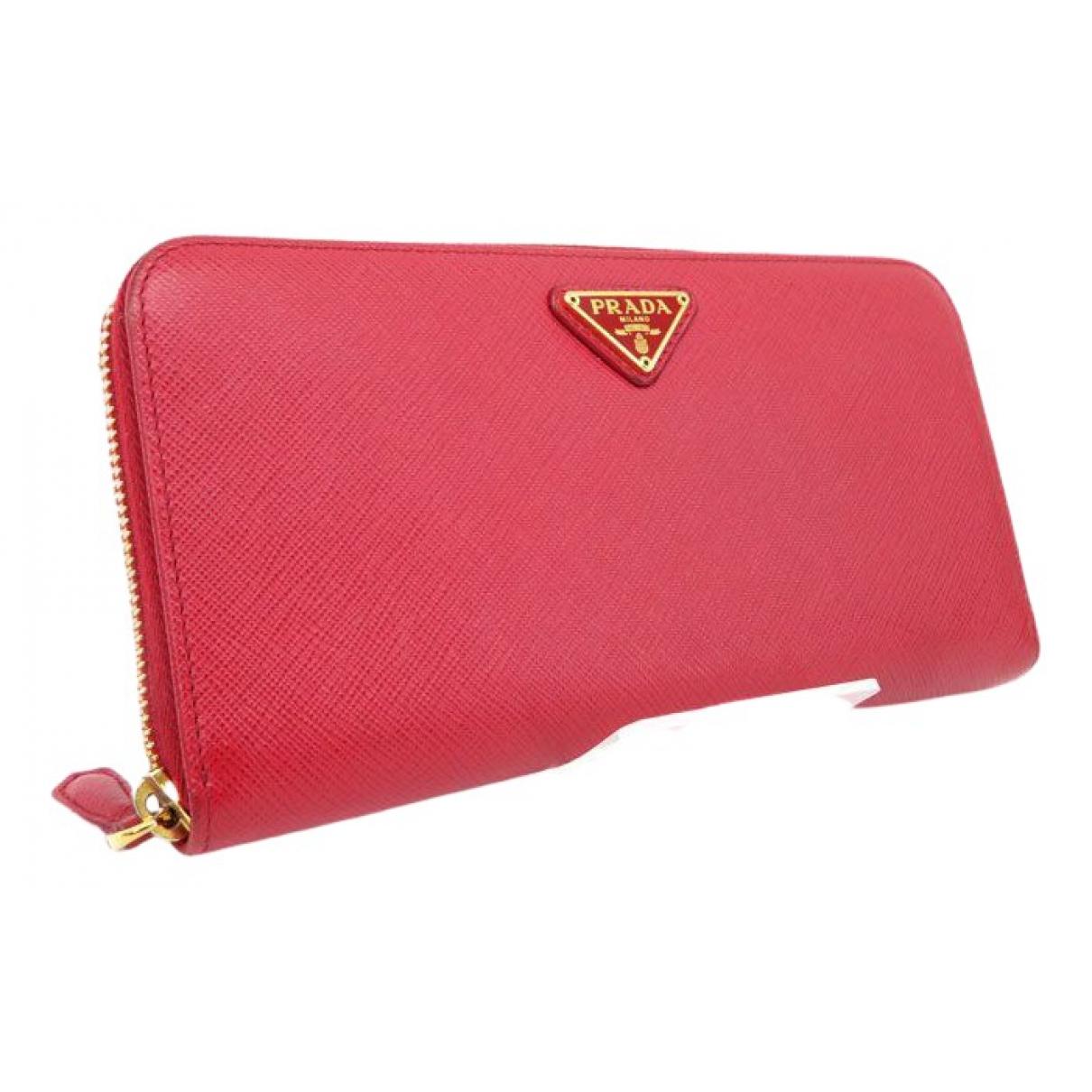 Prada \N Red Leather wallet for Women \N
