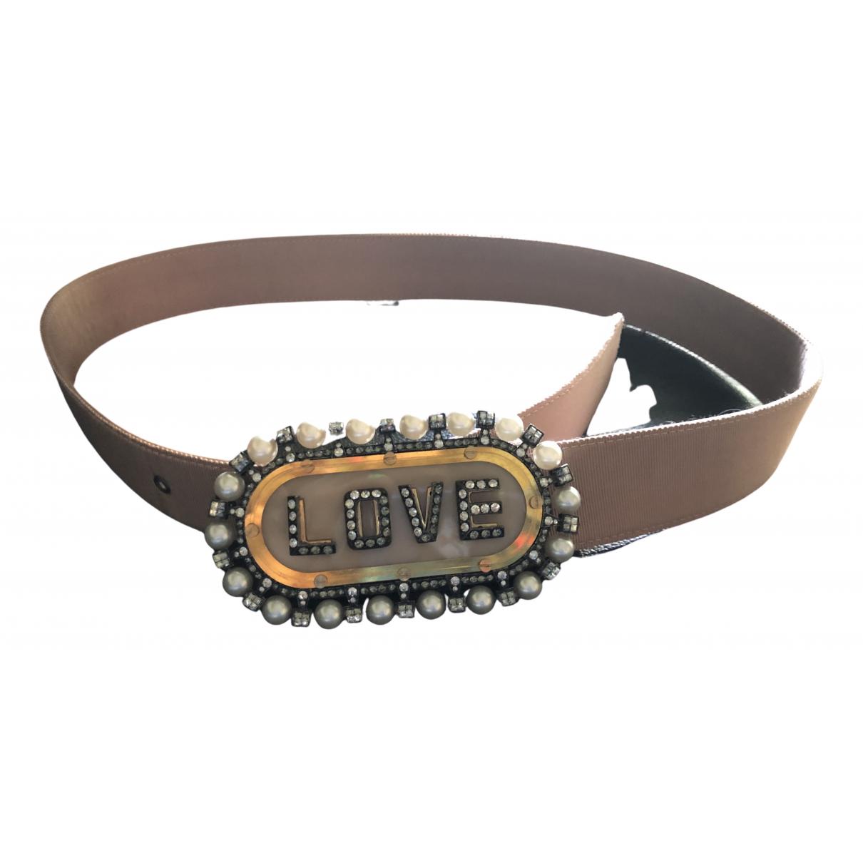 Lanvin \N Beige Cloth belt for Women M International