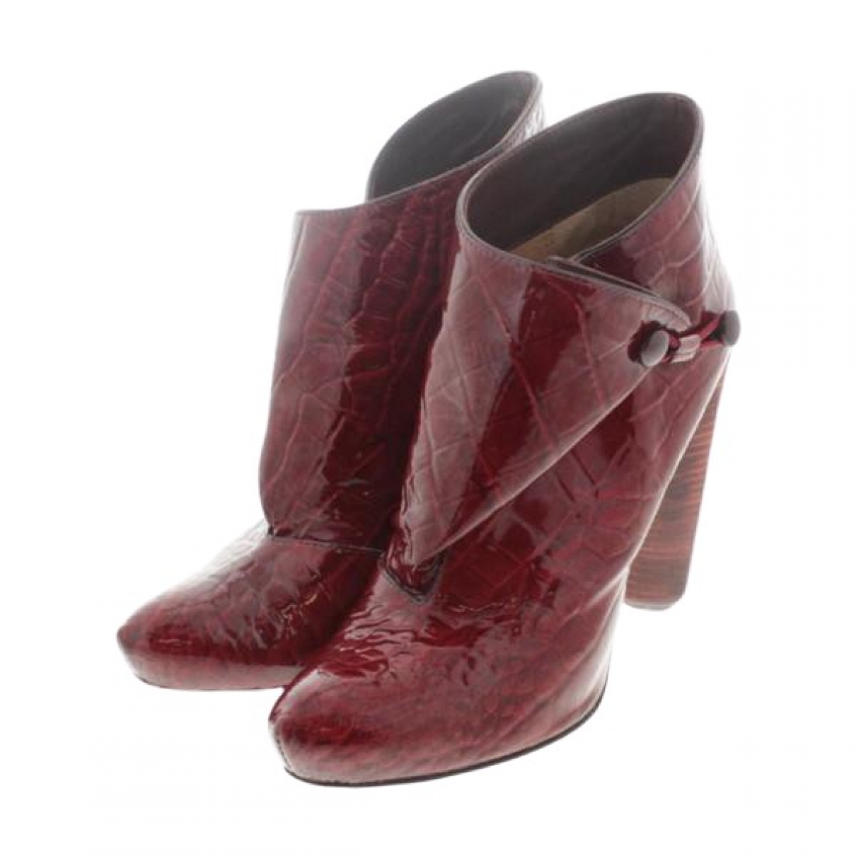 Louis Vuitton \N Burgundy Patent leather Ankle boots for Women 35 EU