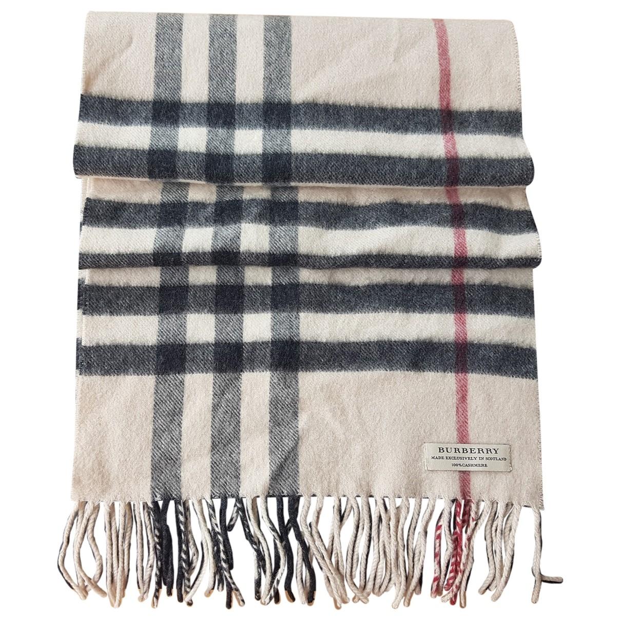 Burberry \N Beige Cashmere scarf & pocket squares for Men \N