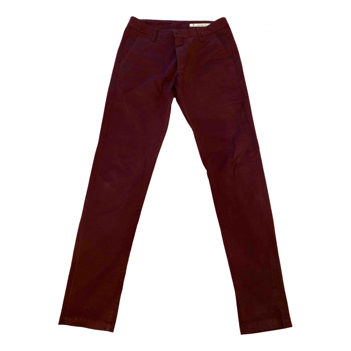 Department 5 \N Burgundy Cotton Trousers for Men 30 UK - US