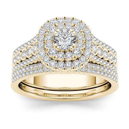 1 CT. T.W. Diamond 10K Yellow Gold Bridal Ring Set, 8 1/2 , No Color Family