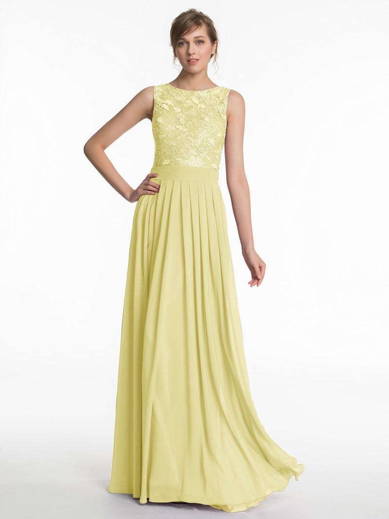 Ericdress Bateau Neck Lace Bridesmaid Dress