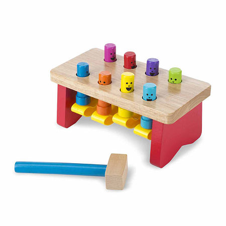 Melissa & Doug Deluxe Pounding Bench, One Size , Multiple Colors
