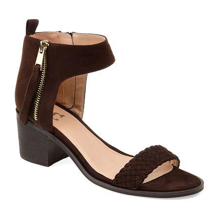 Journee Collection Womens Hunter Heeled Sandals, 9 Medium, Brown