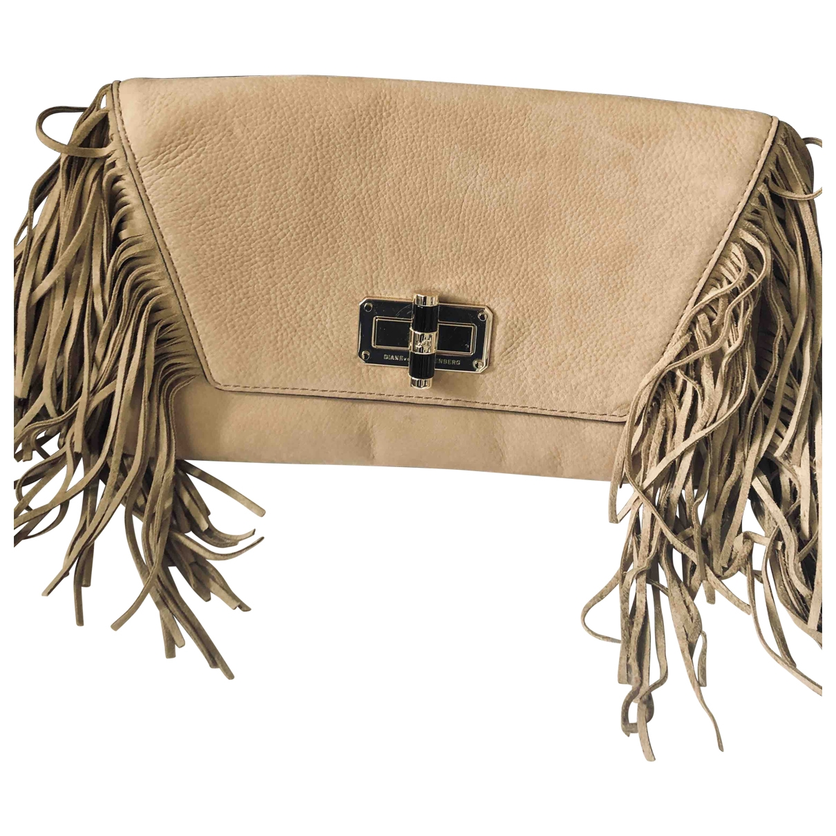 Diane Von Furstenberg \N Beige Suede Clutch bag for Women \N