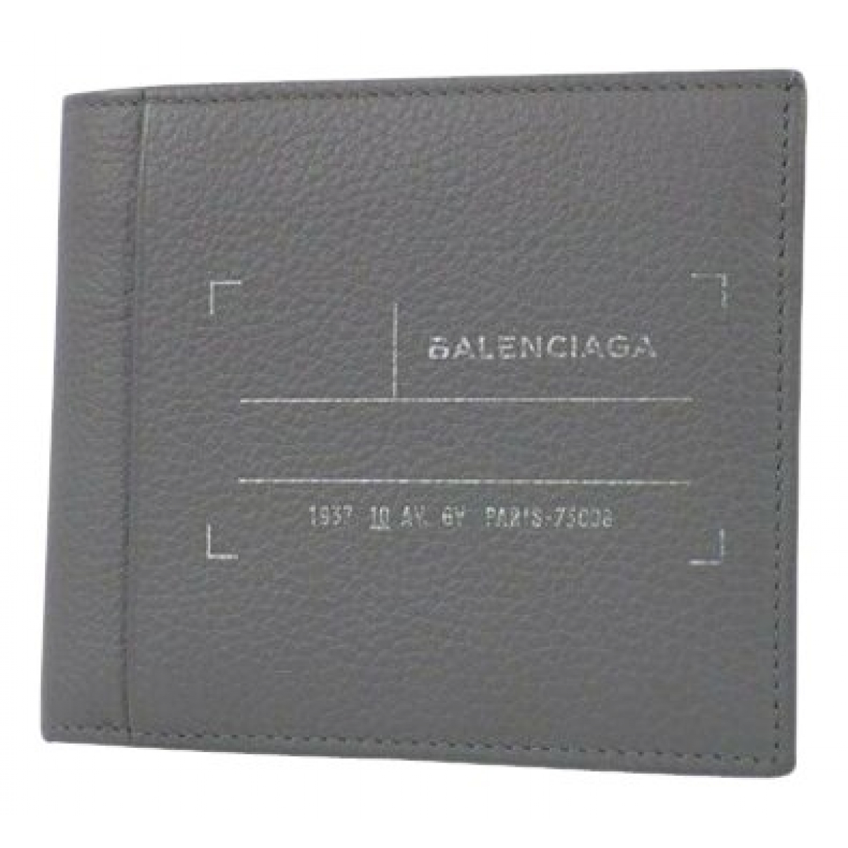 Balenciaga \N Grey Leather wallet for Women \N