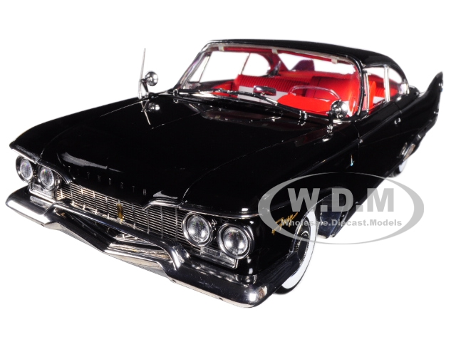 1960 Plymouth Fury Hard Top Jet Black Platinum Edition 1/18 Diecast Model Car by Sunstar