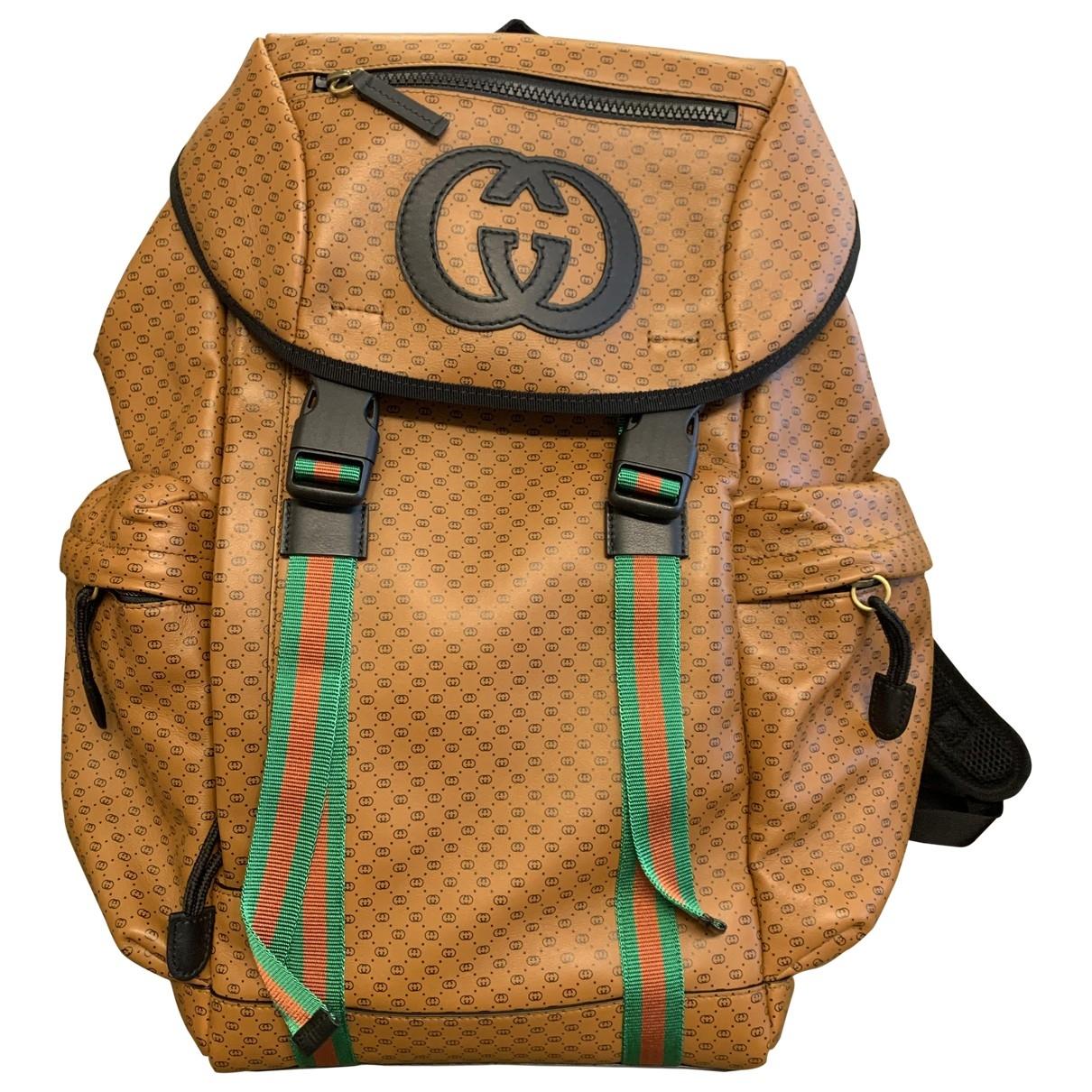 Gucci Mesh Camel Leather bag for Men \N