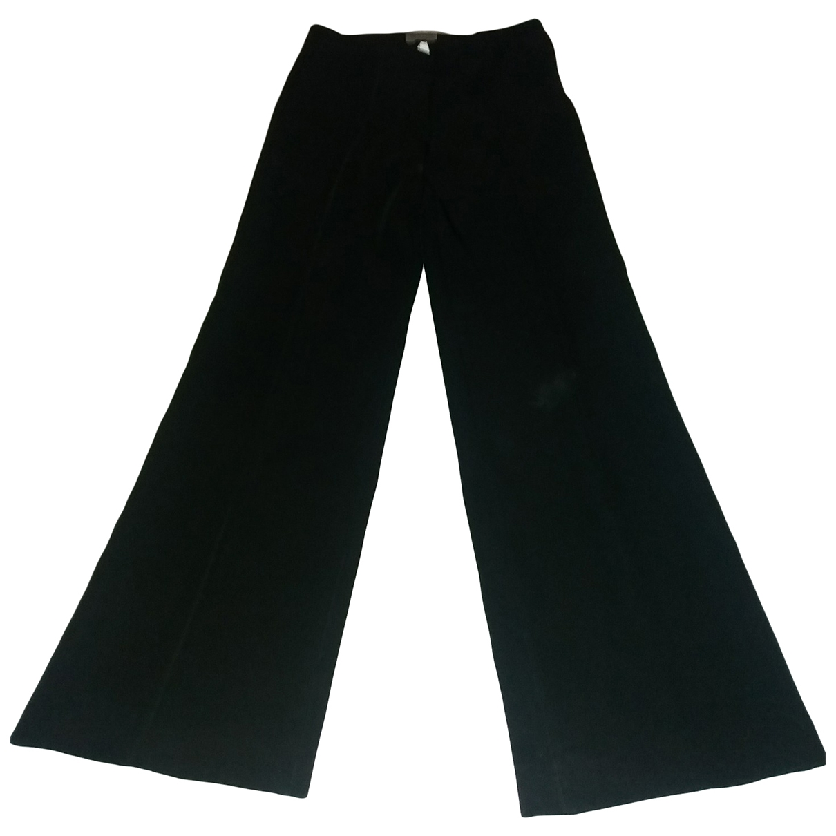 Non Signé / Unsigned \N Black Trousers for Women 38 FR