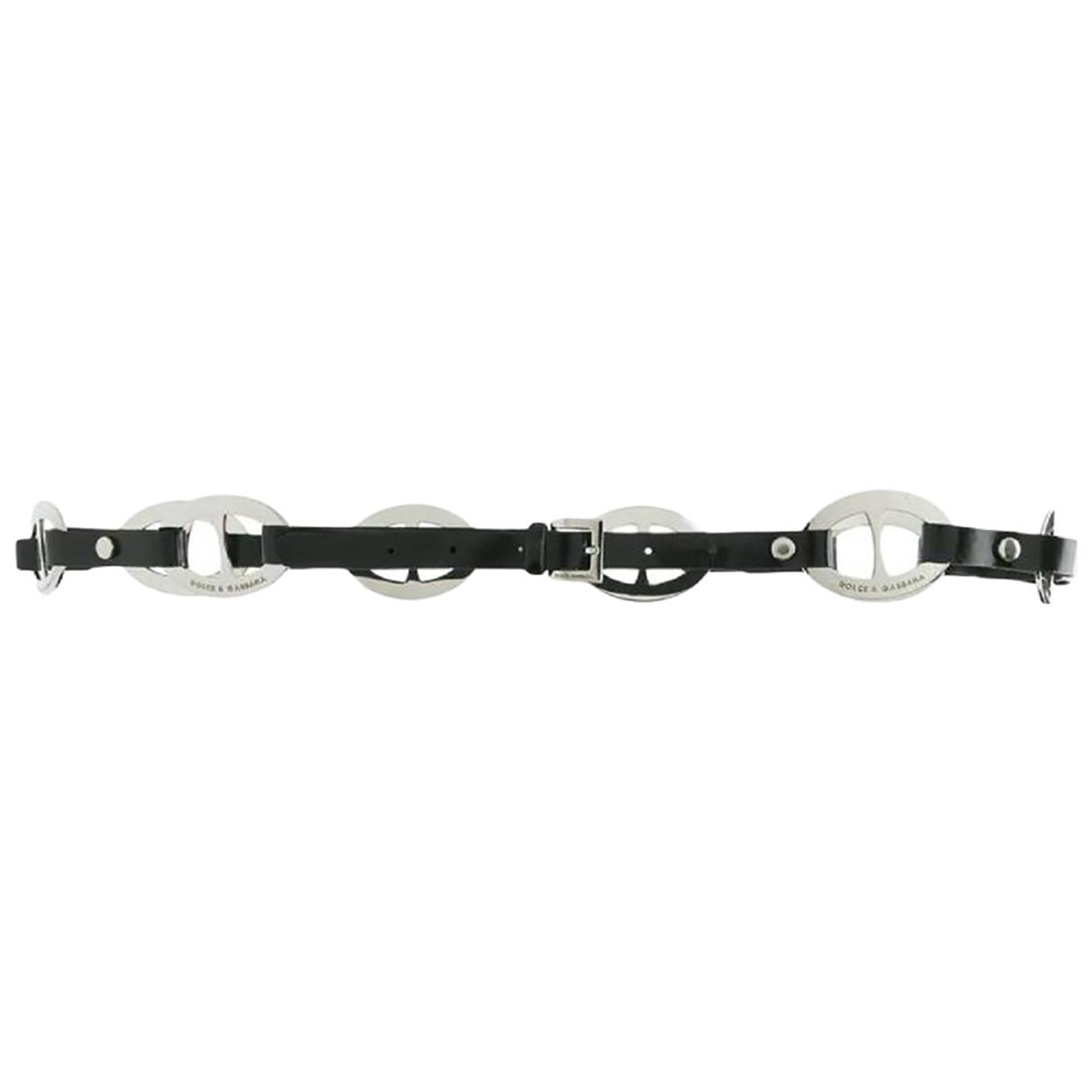Dolce & Gabbana \N Black Leather belt for Women 95 cm