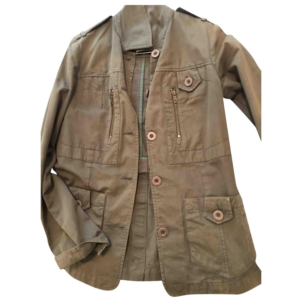 Comptoir Des Cotonniers \N Khaki Cotton jacket for Women 36 FR