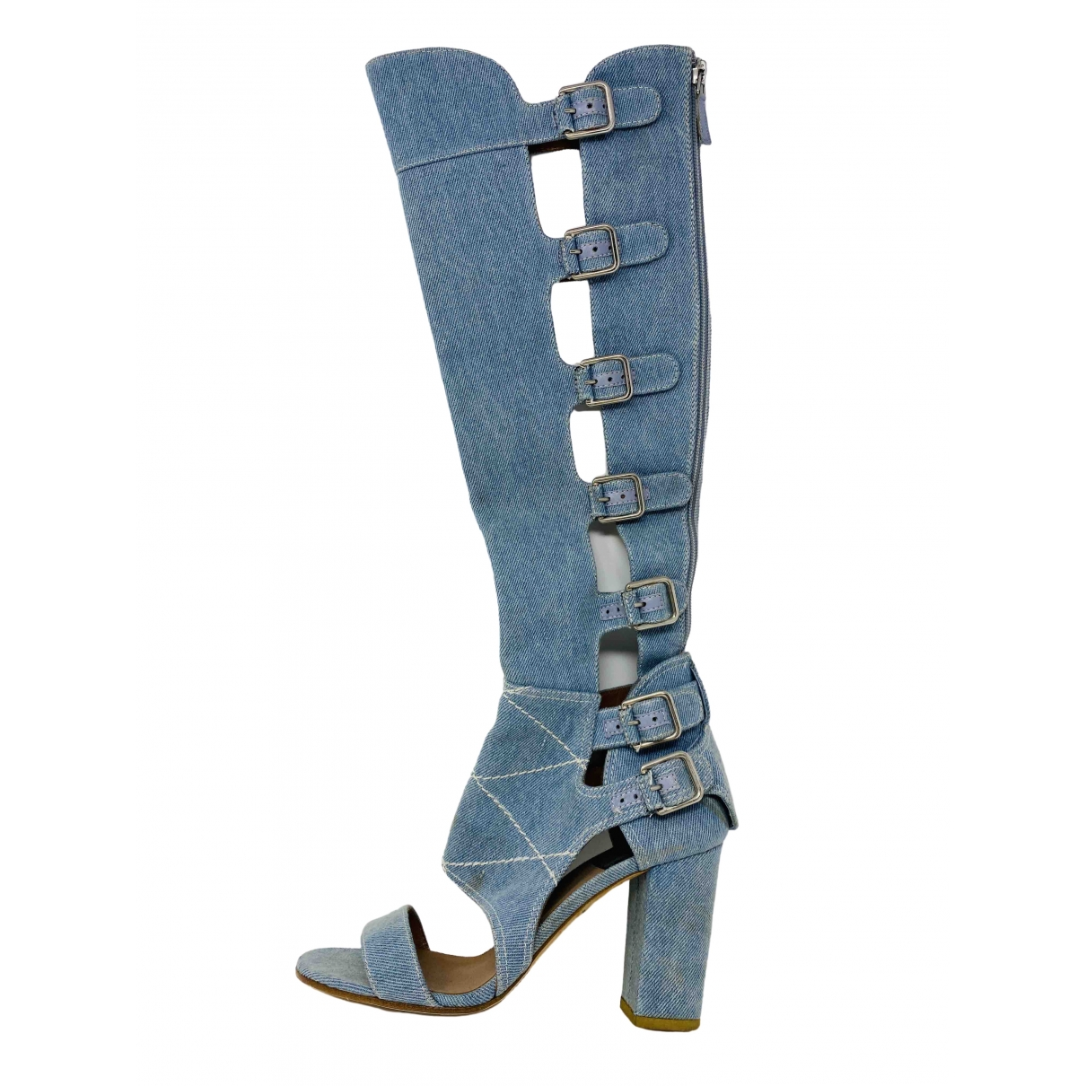 Laurence Dacade \N Blue Cloth Ankle boots for Women 40 EU