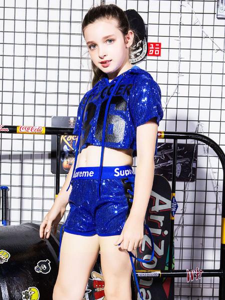 Milanoo Hip Hop Dance Costumes Sequin Kid Street Dancing Costume