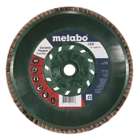 Metabo 6 In. Ceramic Flapper 40 5/8 In.-11 T29 Trimmable (Pb)