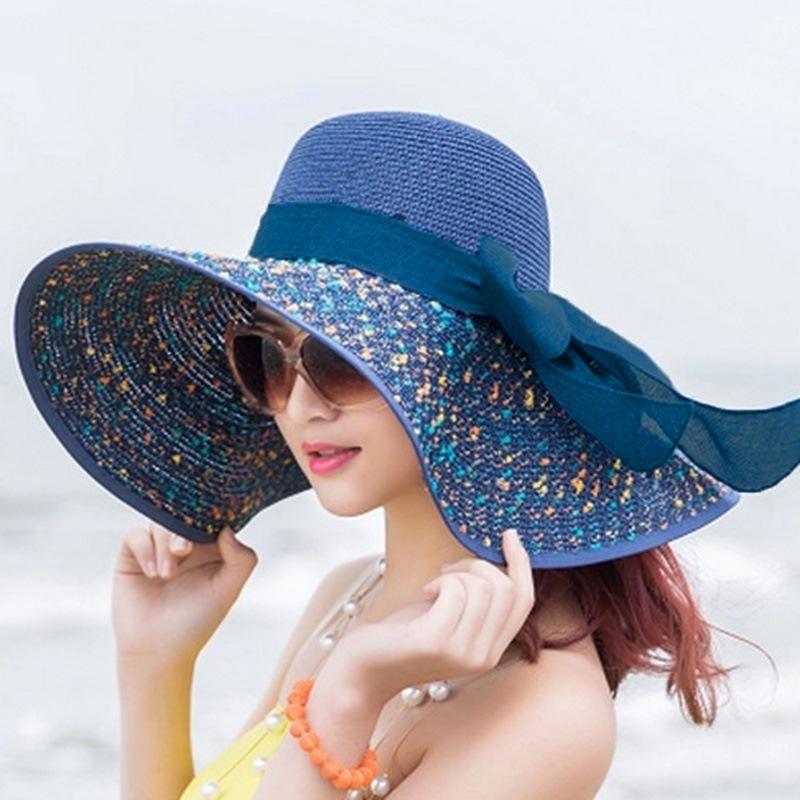 Ericdress Bowknot Embellished Graceful Wide Brim Sun Hat