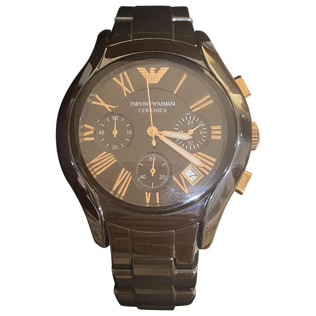 Emporio Armani \N Brown Steel watch for Women \N