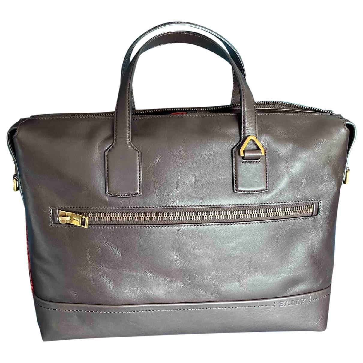 Bally \N Brown Leather bag for Men \N