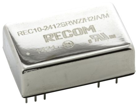 Recom REC10/M 10W Isolated DC-DC Converter Through Hole, Voltage in 9 → 36 V dc, Voltage out 12V dc Medical