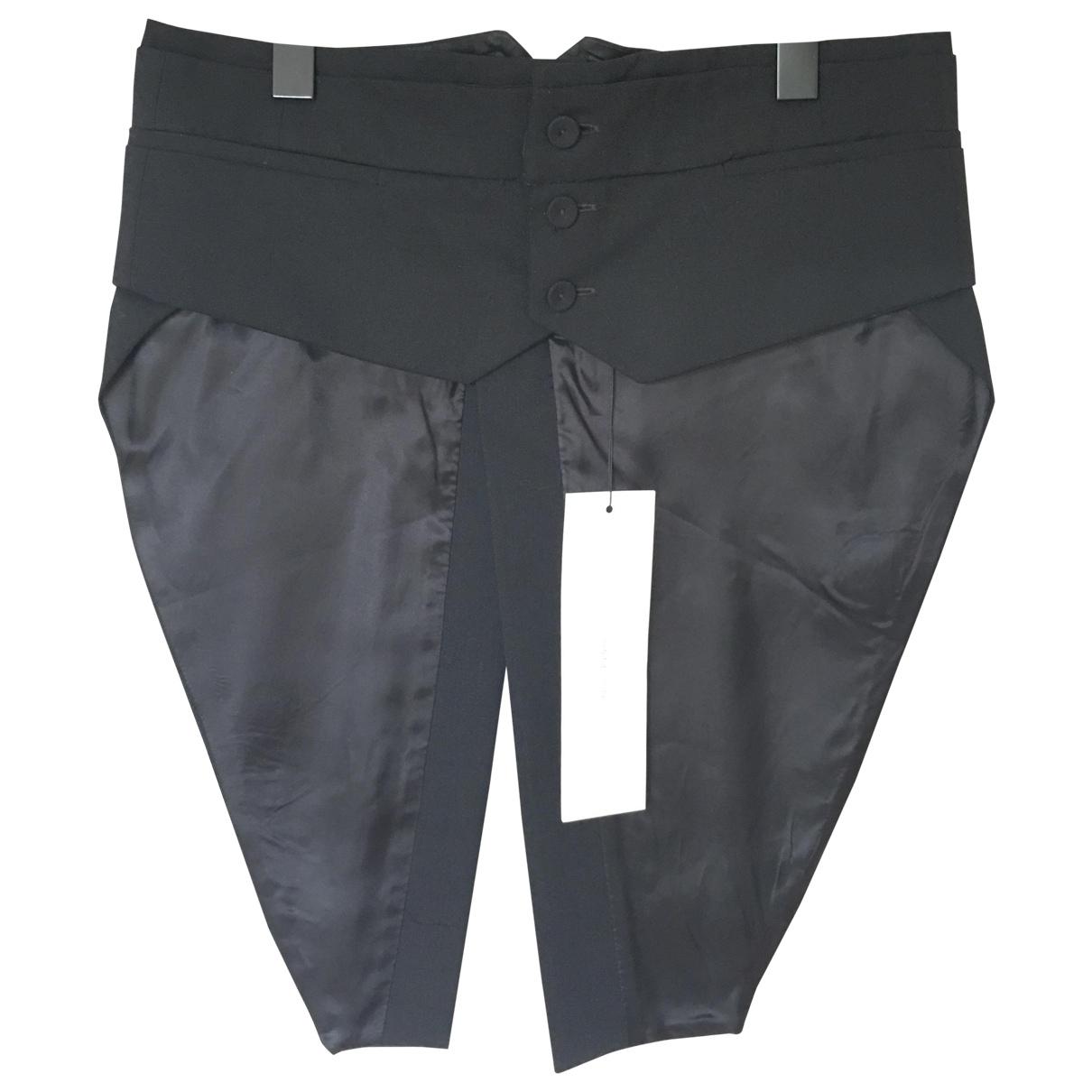 Bruno Pieters \N Black Wool Trousers for Men 46 IT