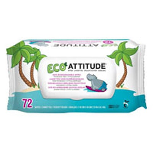 Eco Baby Wipes 72 Count by Attitude