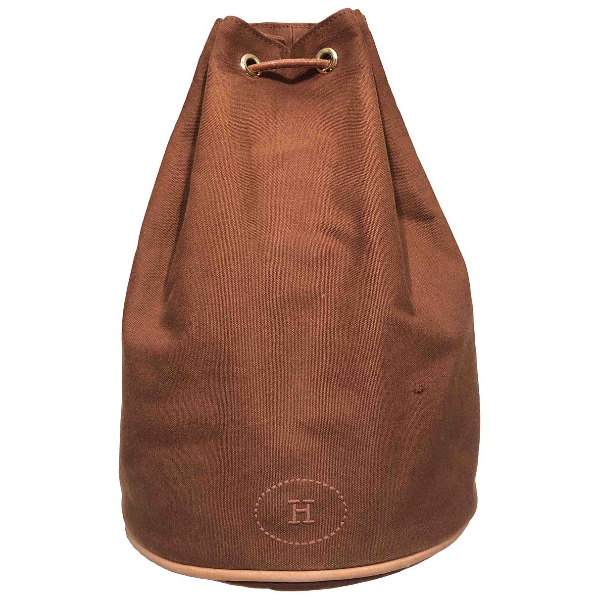 Hermès \N Brown Cloth backpack for Women \N