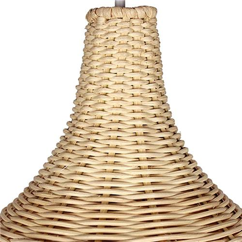 LED Pendant Lamp Shade Rattan Woven Hand-made Decoration Light Vantage Corridor Lamp Ceiling Light