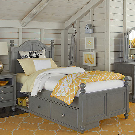Lake House Payton Arch Bed with Storage, One Size , Gray