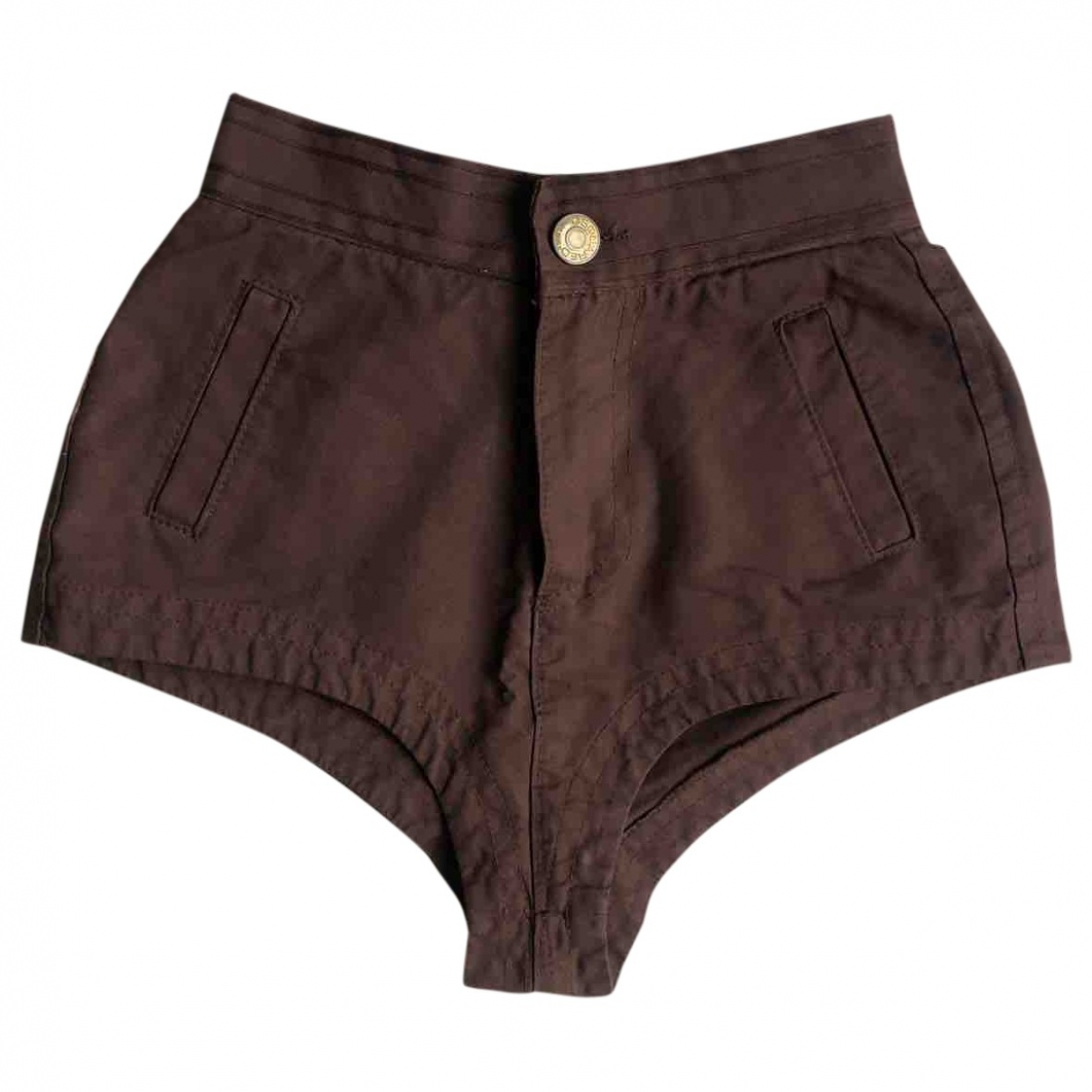 Dsquared2 \N Brown Denim - Jeans Shorts for Women 42 IT