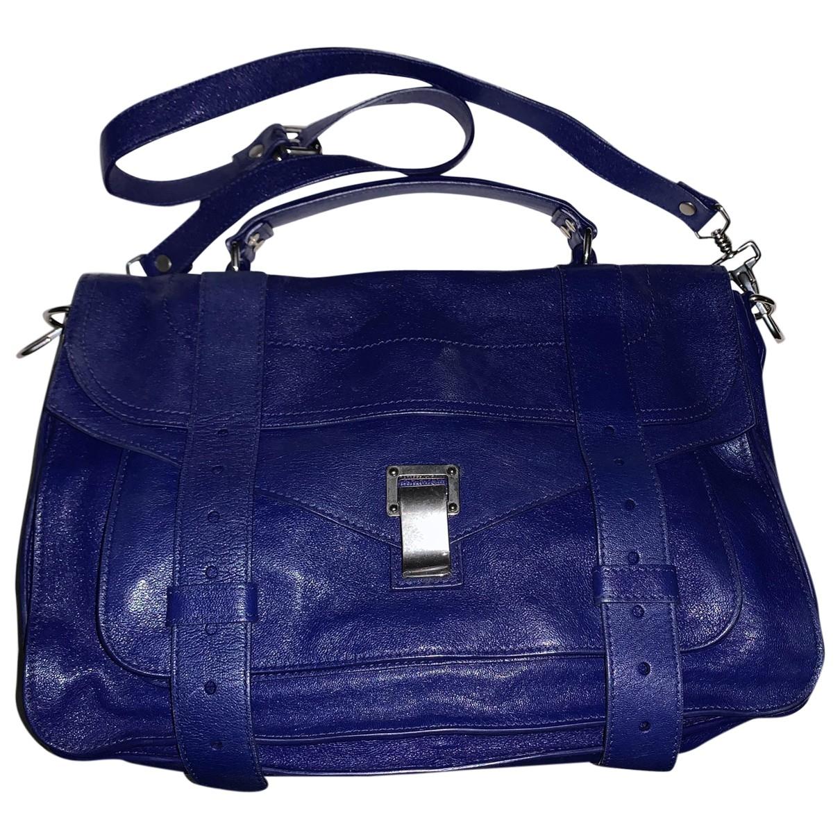 Proenza Schouler PS1 Handtasche in  Blau Leder