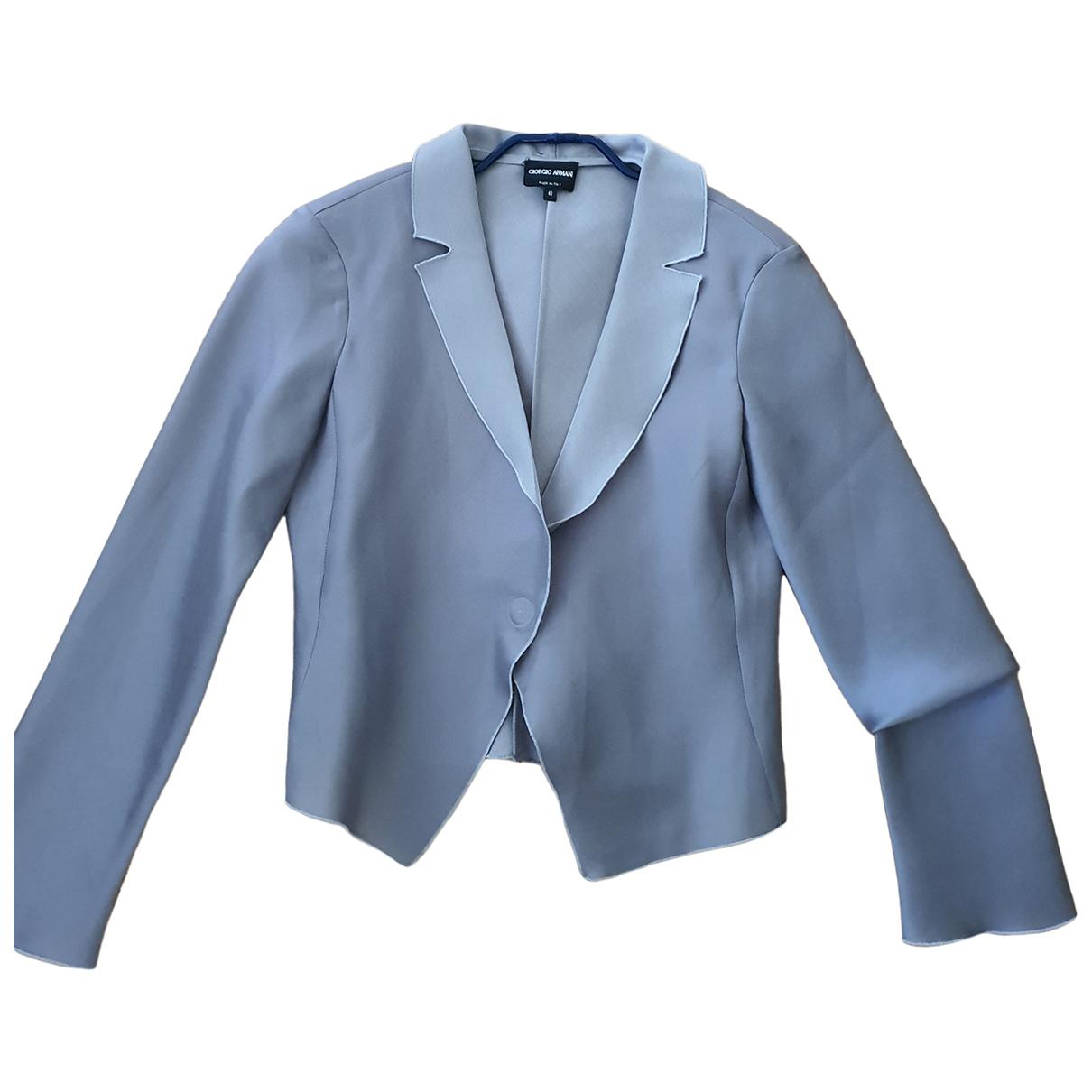 Giorgio Armani \N Grey Silk jacket for Women 36 FR