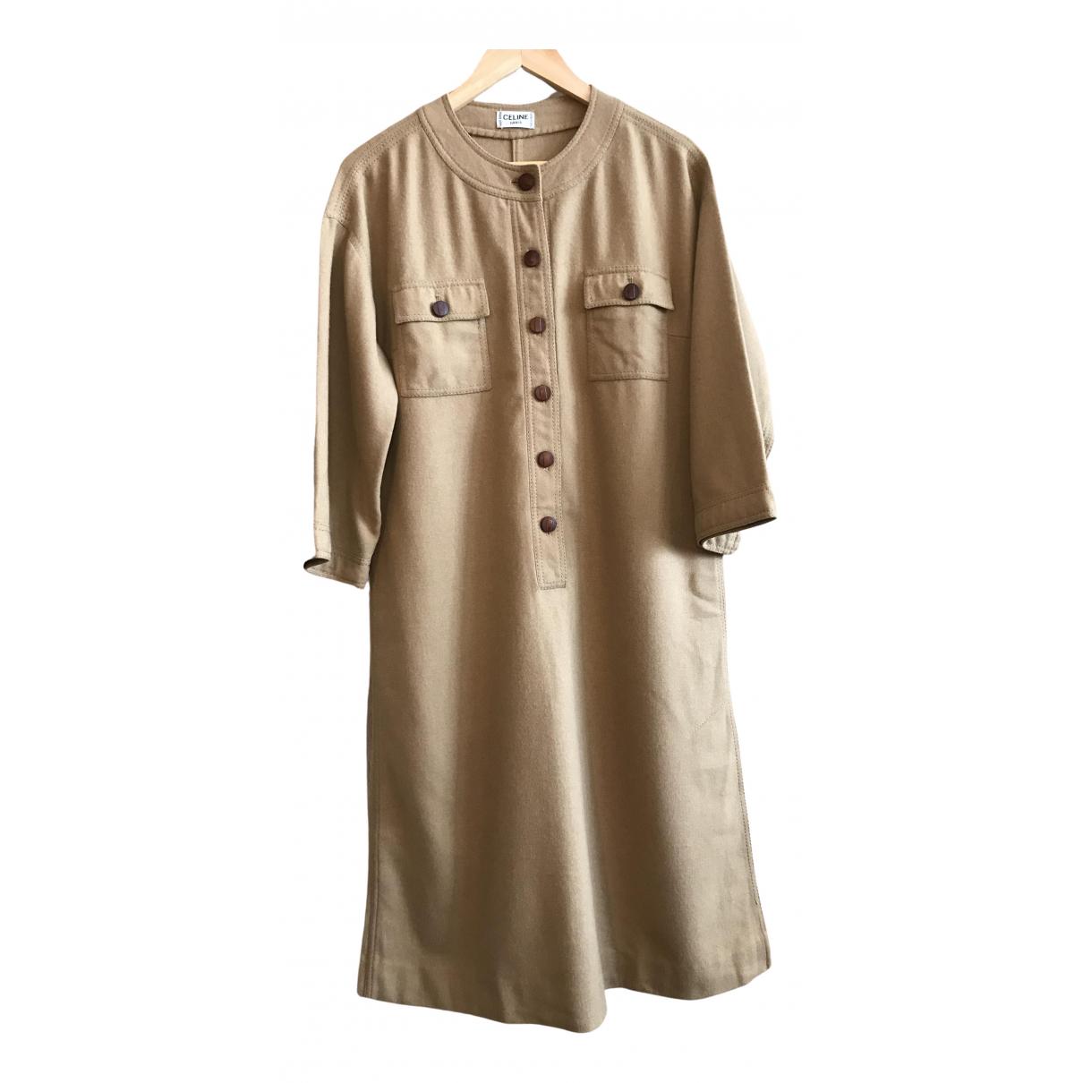 Celine \N Camel Wool dress for Women L International