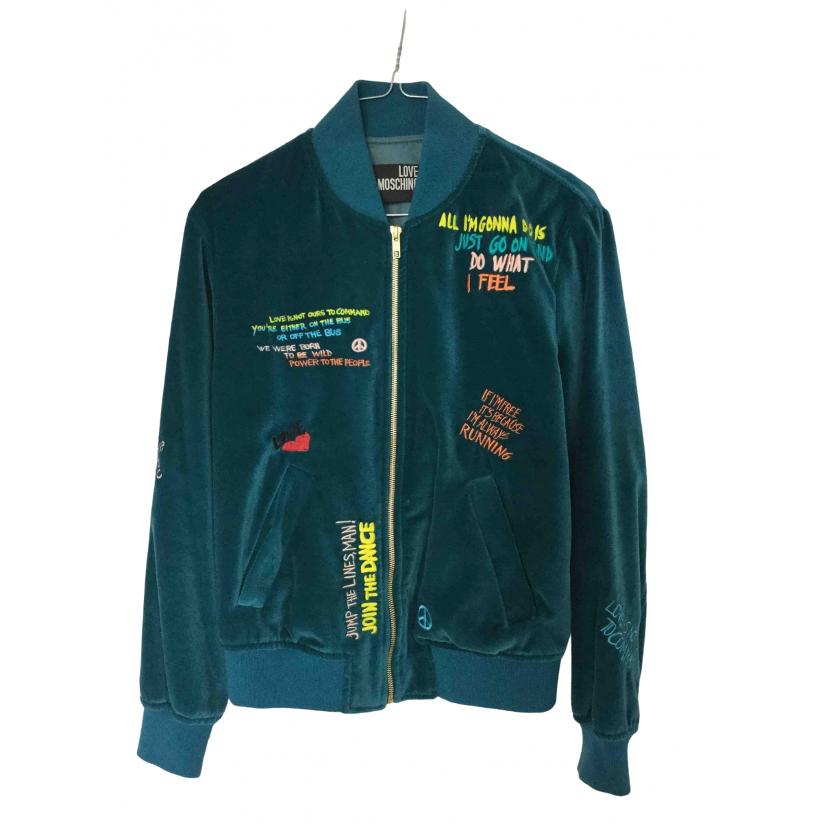 Moschino Love \N Turquoise Velvet jacket for Women 38 IT