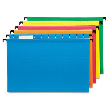 Pendaflex@ SureHook Reinforced Hanging File Folder, Legal Size, 20/Box - Assorted 141291