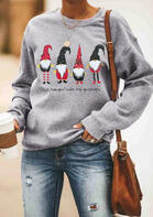 Just Hangin' with My Gnomies Sweatshirt without Necklace - Gray