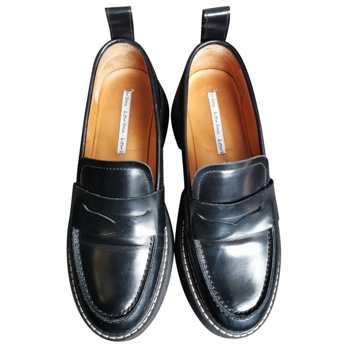 & Stories \N Black Leather Flats for Women 39 EU