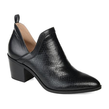 Journee Collection Womens Terri Stacked Heel Booties, 7 Medium, Black