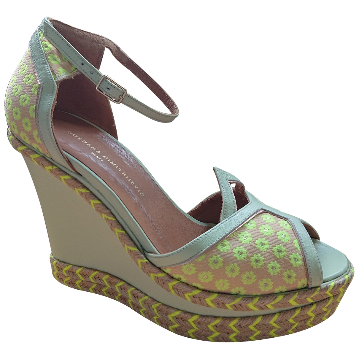 Gordana Dimitrijevic \N Green Leather Sandals for Women 40 EU