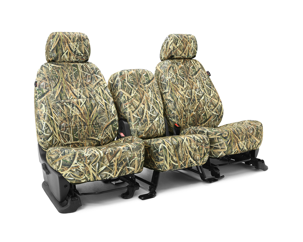 Coverking CSCMO07GM9534 Skanda Custom Seat Covers 1 Row Neosupreme Mossy Oak Shadow Grass Blades Solid Front GMC Sierra 1500 | 2500 2014-2018