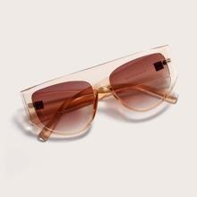 Flat Top Acrylic Frame Sunglasses