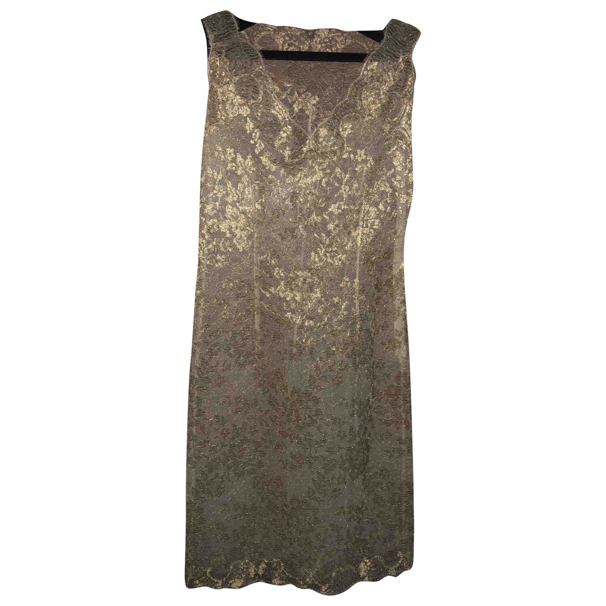 Non Signé / Unsigned \N Gold Lace dress for Women 42 IT