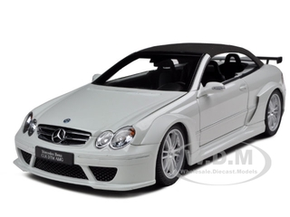 Mercedes CLK DTM AMG Convertible White 1/18 Diecast Model Car by Kyosho
