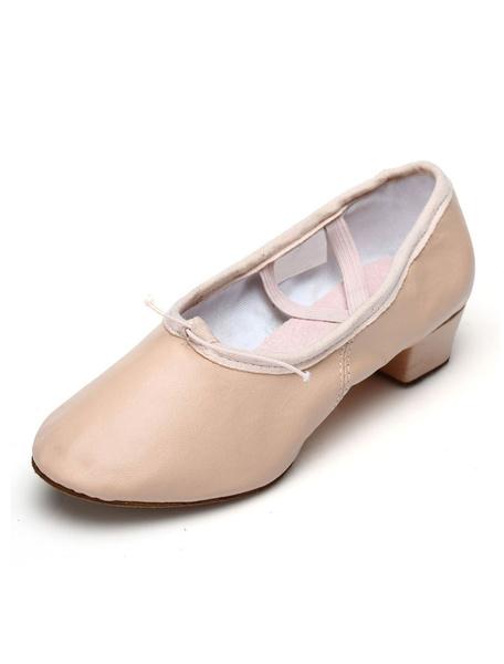 Milanoo Ballet Dance Shoes Round Toe Criss Cross Dancing Shoes For Women