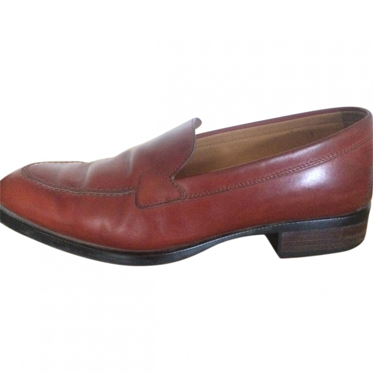 Tod's \N Brown Leather Flats for Women 39 EU