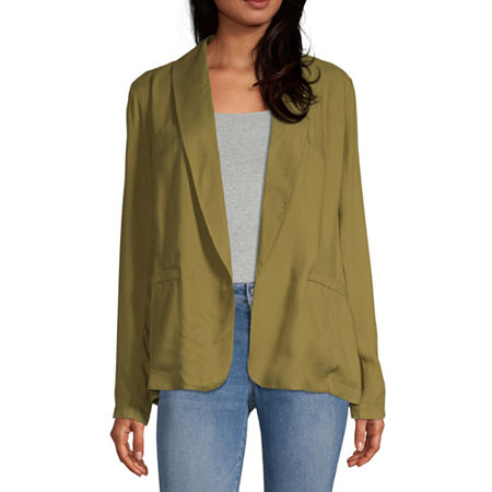 Society And Stitch Womens Classic Fit Twill Blazer-Juniors, Large , Green
