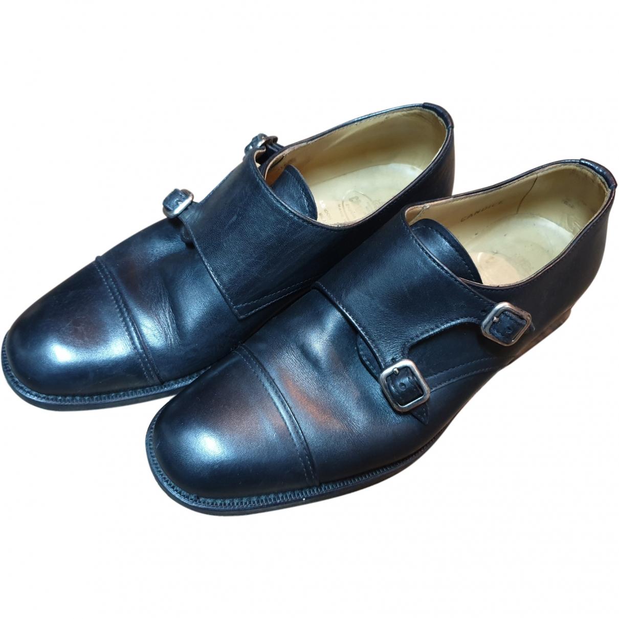Church's \N Black Leather Flats for Women 36 EU