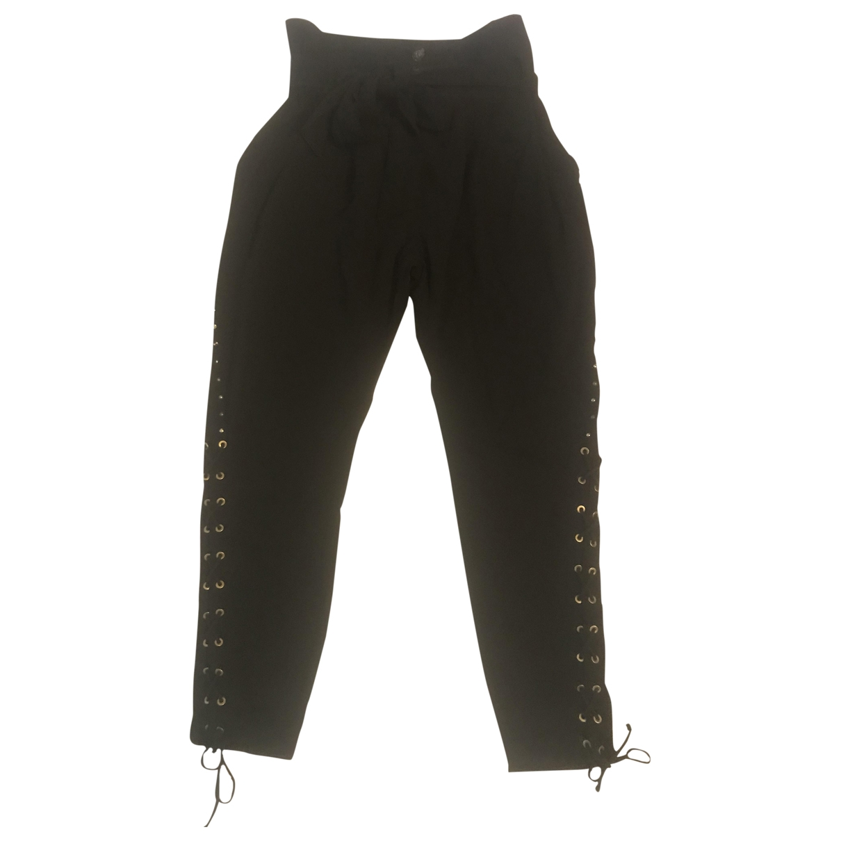 Pinko \N Black Cotton Trousers for Women 42 IT