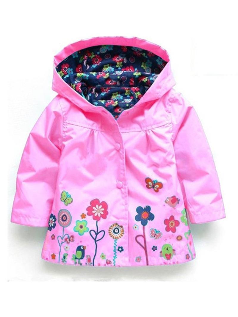 Ericdress Waterproof Hooded Girl's Raincoat Outerwear