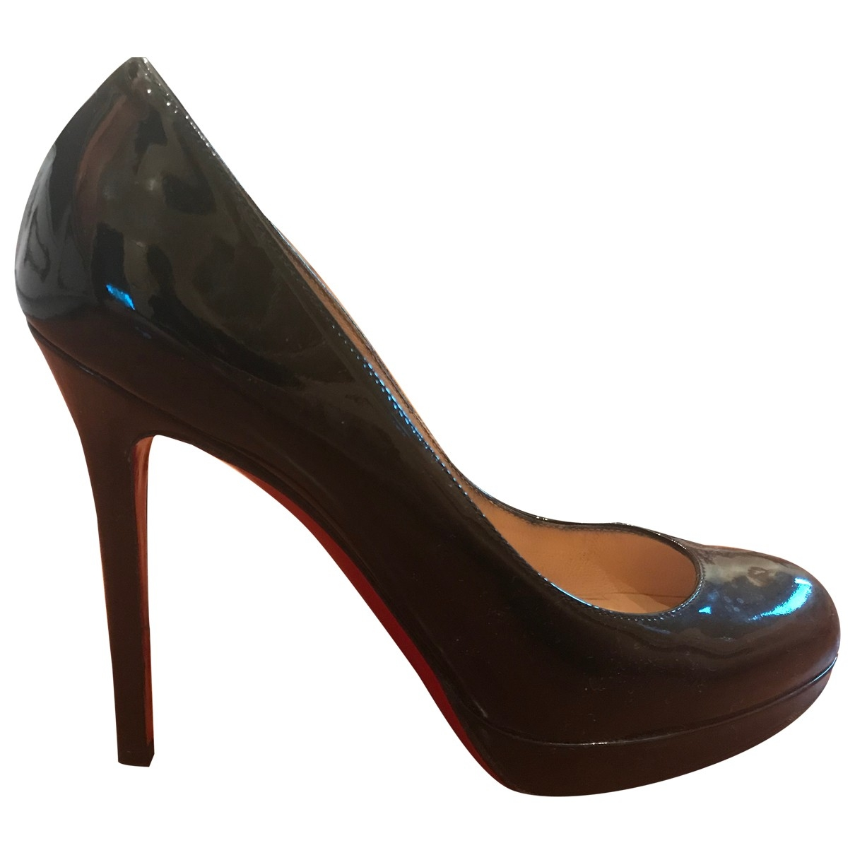Christian Louboutin Simple pump Black Patent leather Heels for Women 36.5 EU